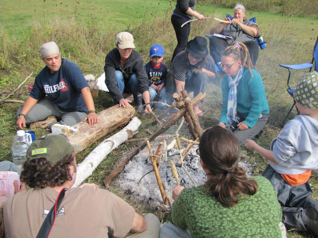 Bannock making workshop: Fireside